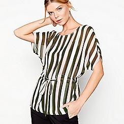 J by Jasper Conran - Multi-coloured stripe tie waist top