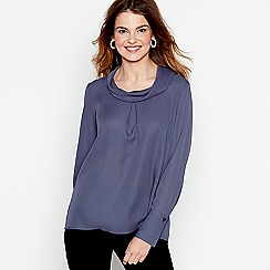 J by Jasper Conran - Blue drape neck top