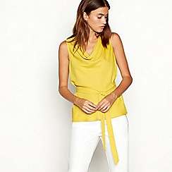 J by Jasper Conran - Yellow cowl neck sleeveless top