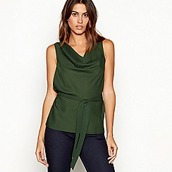 J by Jasper Conran - Khaki cowl neck sleeveless top