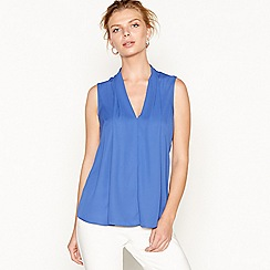 J by Jasper Conran - Bright blue chiffon pleated sleeveless top