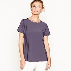 J by Jasper Conran - Purple chest pocket jersey top