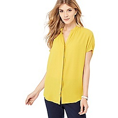 J by Jasper Conran - Yellow short sleeve shirt