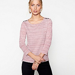 J by Jasper Conran - Red 3/4 sleeves stripe top