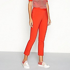 J by Jasper Conran - Red tapered leg cotton smart ankle trousers