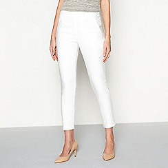 J by Jasper Conran - White tapered leg cotton smart ankle trousers