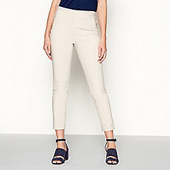 J by Jasper Conran - Natural tapered leg cotton smart trousers