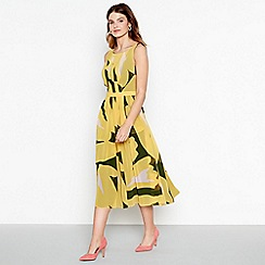 J by Jasper Conran - Yellow floral print pleated dress