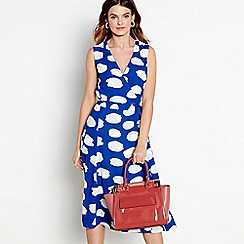 J by Jasper Conran - Bright blue spot print wrap dress