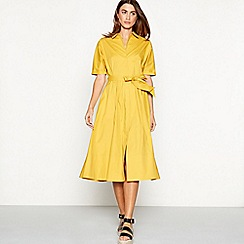 J by Jasper Conran - Yellow full length shirt dress