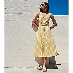 J by Jasper Conran - Yellow stripe print cotton dress
