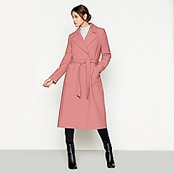 J by Jasper Conran - Dark pink crepe wrap coat
