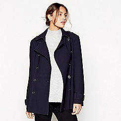 J by Jasper Conran - Navy short peacoat