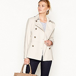 J by Jasper Conran - Natural pleated back mac