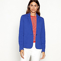 J by Jasper Conran - Bright blue ponte long sleeve blazer