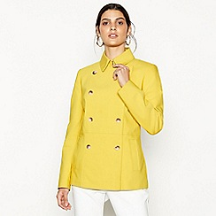 J by Jasper Conran - Dark yellow short mac