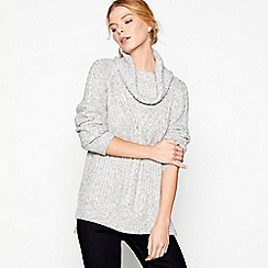 J by Jasper Conran - Grey cowl neck jumper
