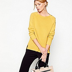 J by Jasper Conran - Yellow long sleeves ripple jumper