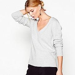 J by Jasper Conran - Grey cashmere long sleeves jumper