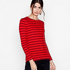 J by Jasper Conran - Red stripe ribbed jumper