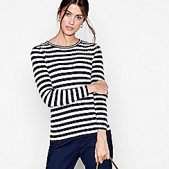 J by Jasper Conran - Ivory stripe ribbed jumper