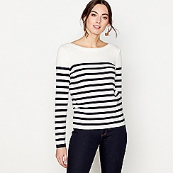 J by Jasper Conran - Navy long sleeves Breton stripe jumper