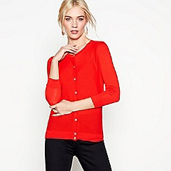 J by Jasper Conran - Red cotton and wool blend cardigan