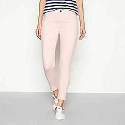 J by Jasper Conran - Light pink slim fit ankle grazer jeans