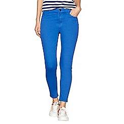 J by Jasper Conran - Blue skinny ankle grazer jeans