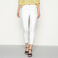 J by Jasper Conran - White slim fit ankle grazer jeans