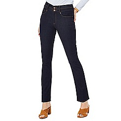 J by Jasper Conran - Blue 'Lift and Shape' high waisted straight leg jeans