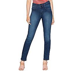 J by Jasper Conran - Mid blue denim straight leg jeans
