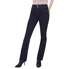 J by Jasper Conran - Dark blue bootcut high waisted jeans