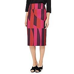 J by Jasper Conran - Multicoloured printed knee length skirt