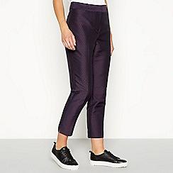 J by Jasper Conran - Multicoloured jacquard geometric pattern trousers