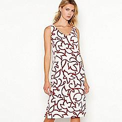 J by Jasper Conran - White 'Tandi' tulip dress