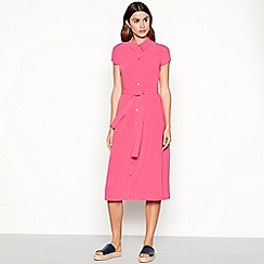J by Jasper Conran - Pink shirt midi dress