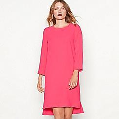 J by Jasper Conran - Bright pink crepe long sleeve shift dress