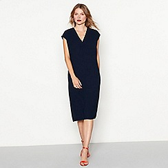 J by Jasper Conran - Navy crepe midi shift dress
