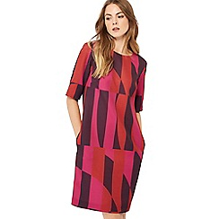 J by Jasper Conran - Multicoloured printed half sleeve knee length shift dress