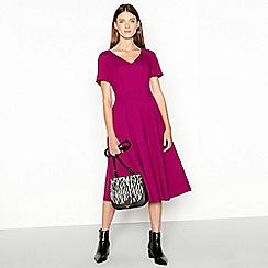J by Jasper Conran - Pink seamed knee length ponte dress