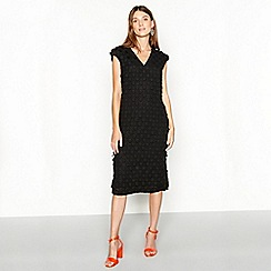 J by Jasper Conran - Black applique spotted knee length shift dress