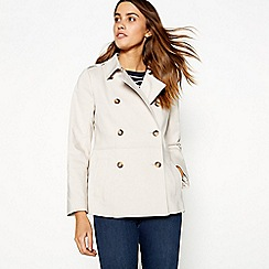 J by Jasper Conran - Natural double breasted mac jacket