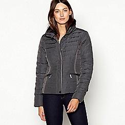 J by Jasper Conran - Khaki faux fur collar padded down jacket