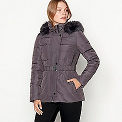 J by Jasper Conran - Grey belted padded down jacket