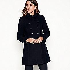 J by Jasper Conran - Navy wool longline pea coat