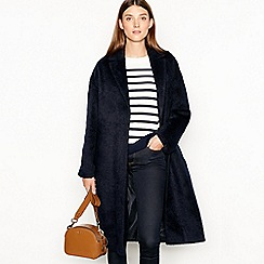 J by Jasper Conran - Navy textured longline coat