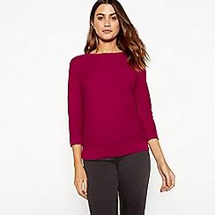 J by Jasper Conran - Pink knit crew neck jumper