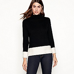 J by Jasper Conran - Black turtle neck jumper