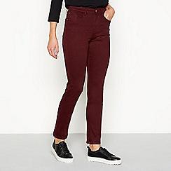 J by Jasper Conran - Burgundy 'Twill' slim fit jeans
